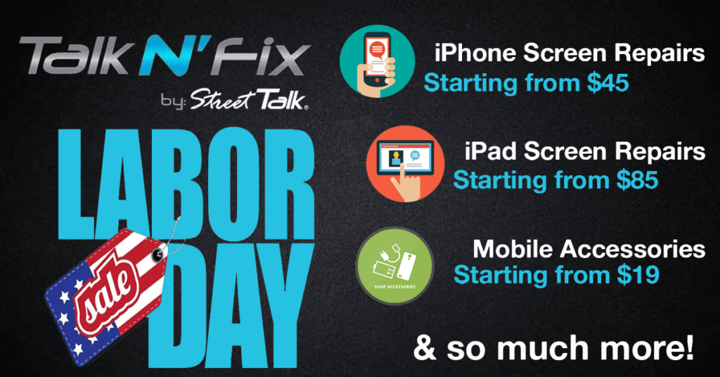 Labor Day Sale at Talk N' Fix