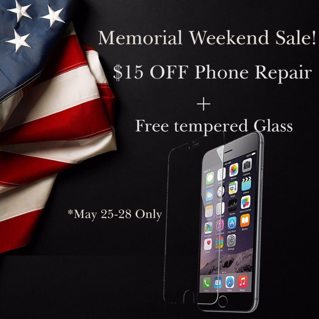Memorial Weekend Sale: $15 off Phone Repair