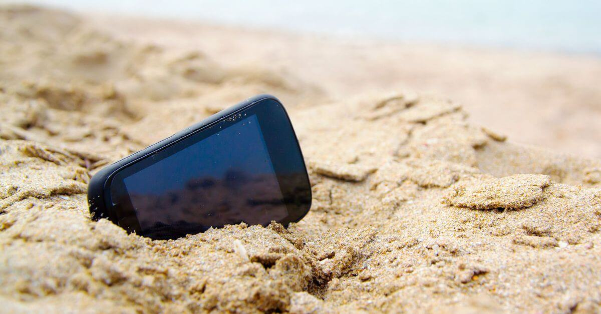 Sand in phone