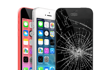 iPhone 5c cracked screen