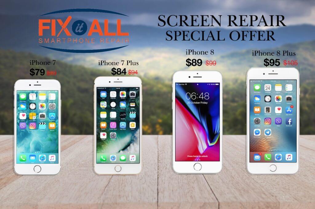 iPhone 7 & 8 screen repair sale